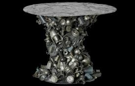 tinnen-tafel-vrijgemaakt-zwarte-achtergrond